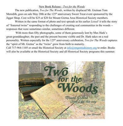 New Book Release - Two for the Woods