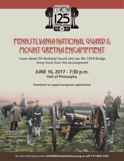 This Friday: Mount Gretna's Encampment and the PA National Guard